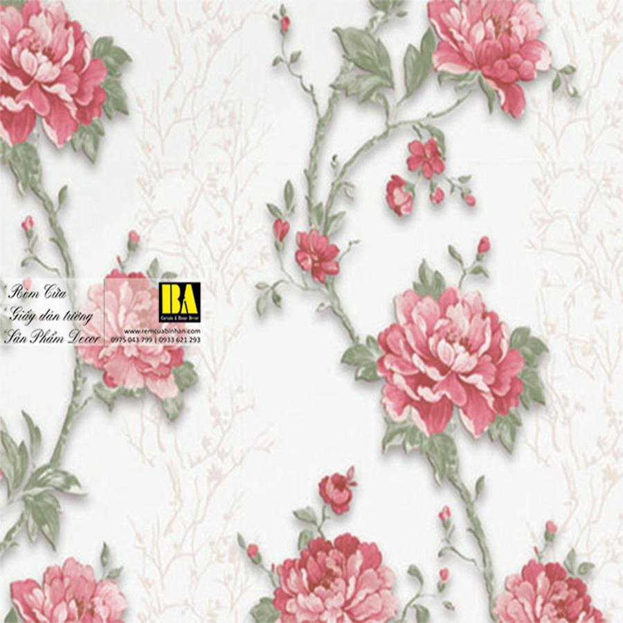 Giấy dán tường hoa dây leo đẹp | giấy dán tường phòng ngủ đẹp TP HCM