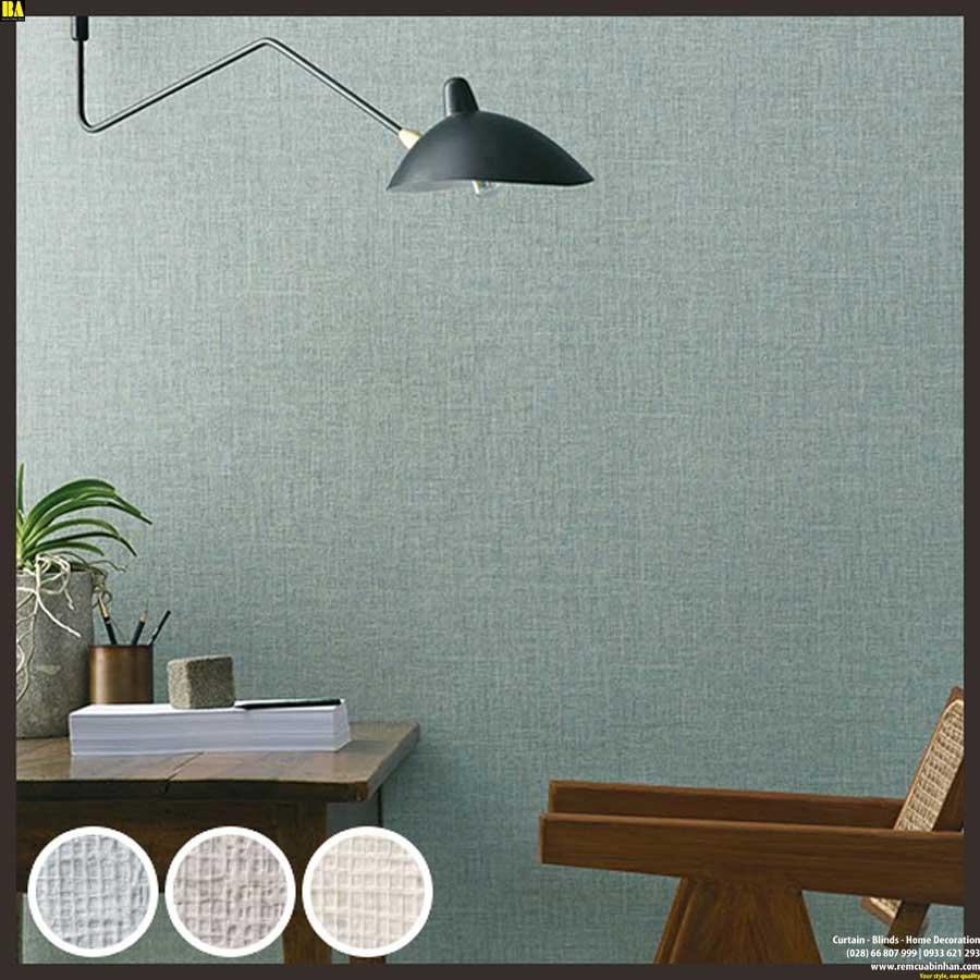 Giấy dán tường Nhật Bản trơn gân vải hiện đại SANGETSU FINE 1006 1007 1008