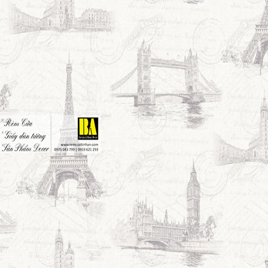 Giấy dán tường tháp Eiffel | giấy dán tường phong cảnh Châu Âu nổi tiếng