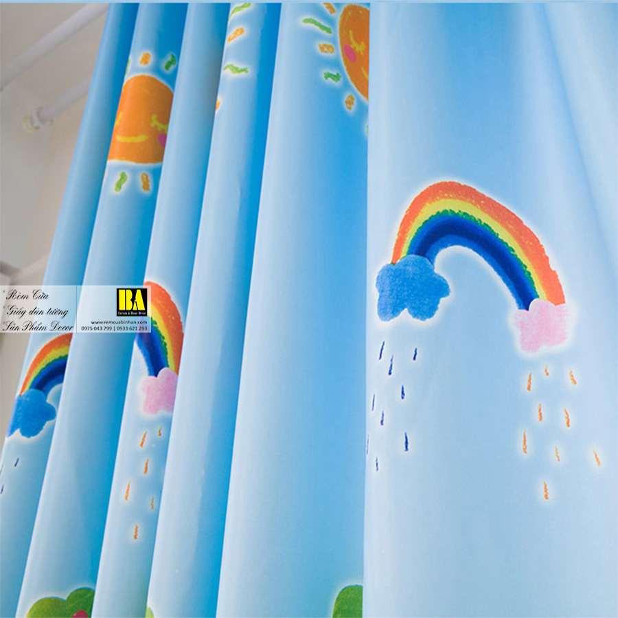 Rèm cửa cho bé họa tiết thế giới màu sắc sinh động | Rèm cửa trẻ em cao cấp