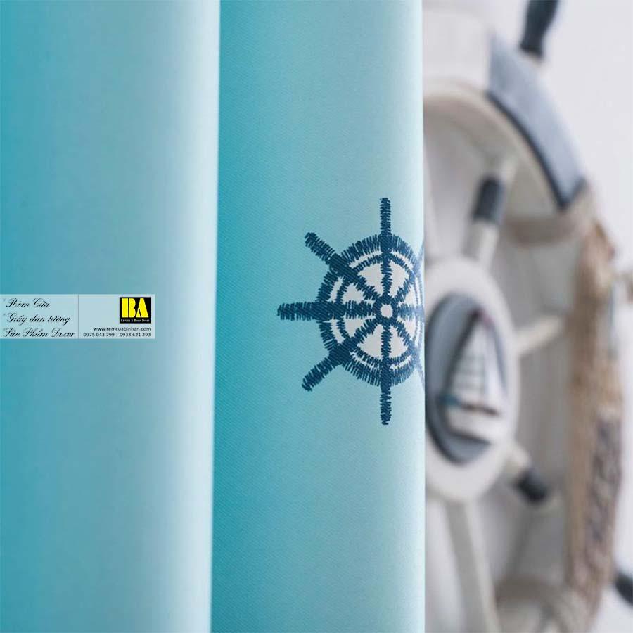 Rèm cửa cho bé họa tiết Thuyền Buồm nautical | Rèm cửa trẻ em cao cấp