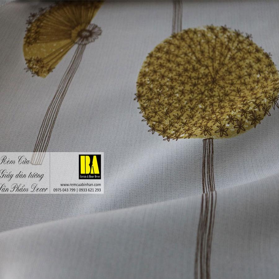 Rèm cửa hoa văn phong cách Hàn Quốc Màn cửa họa tiết FLHQ01