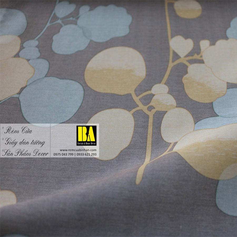 Rèm cửa hoa văn phong cách Hàn Quốc Màn cửa họa tiết FLHQ04