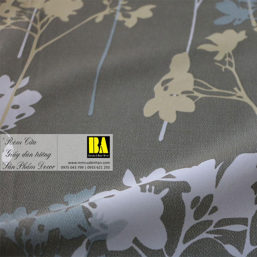 Rèm cửa hoa văn phong cách Hàn Quốc Màn cửa họa tiết FLHQ05