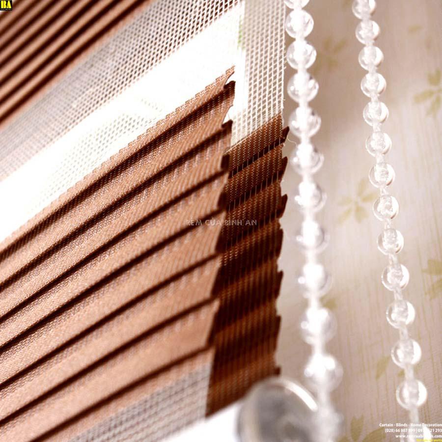 Rèm cửa sổ đẹp Màn cầu vồng cao cấp Rèm zebra combi BA3614