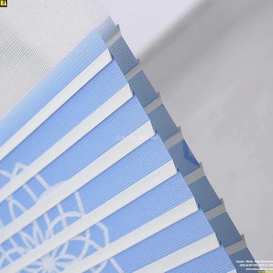Rèm cửa sổ đẹp Màn cầu vồng dệt hoa văn cao cấp Rèm zebra combi BA13-1