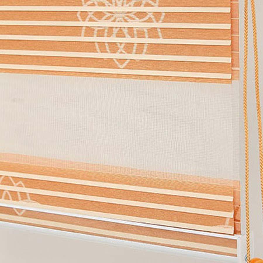 Rèm cửa sổ đẹp Màn cầu vồng dệt hoa văn cao cấp Rèm zebra combi BA13-3