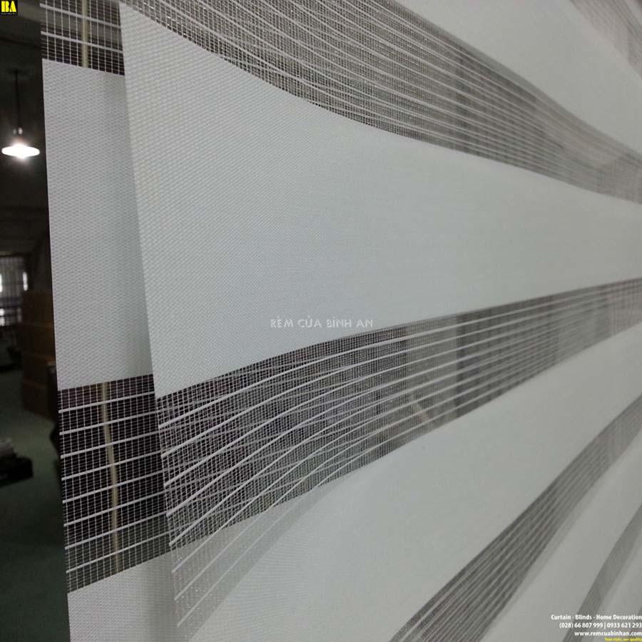 Màn Cầu Vồng Hàn Quốc Rèm Cửa Sổ Màn Văn Phòng Đẹp Màu Xám Nhạt ZK08