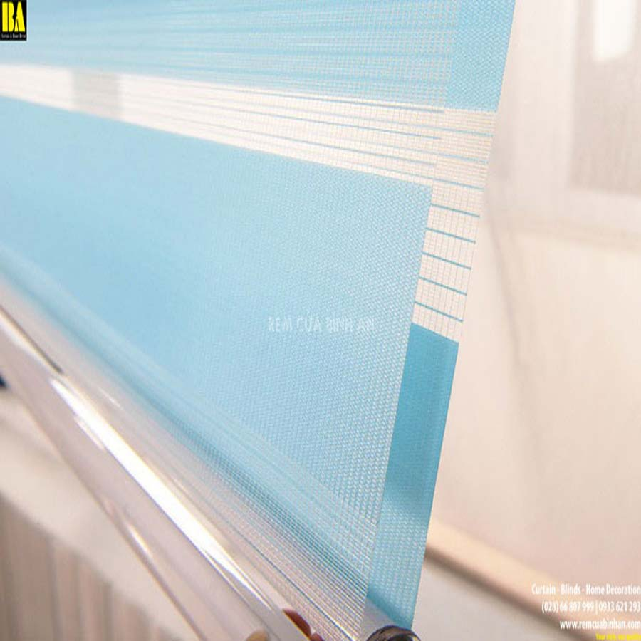 Màn Cầu Vồng Hàn Quốc Rèm Cửa Sổ Màn Văn Phòng Đẹp Màu Xanh Biển ZK05