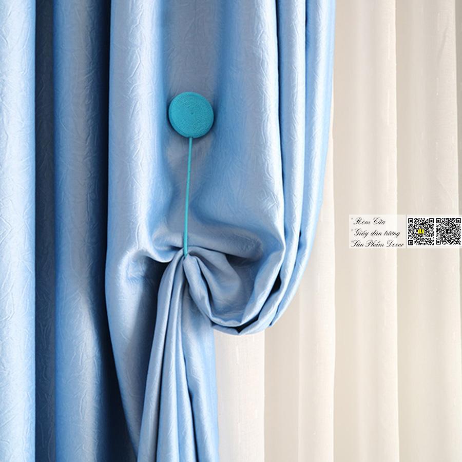 Rèm cửa vải bố thô hai da | Màn cửa chống nắng trơn một màu NEW