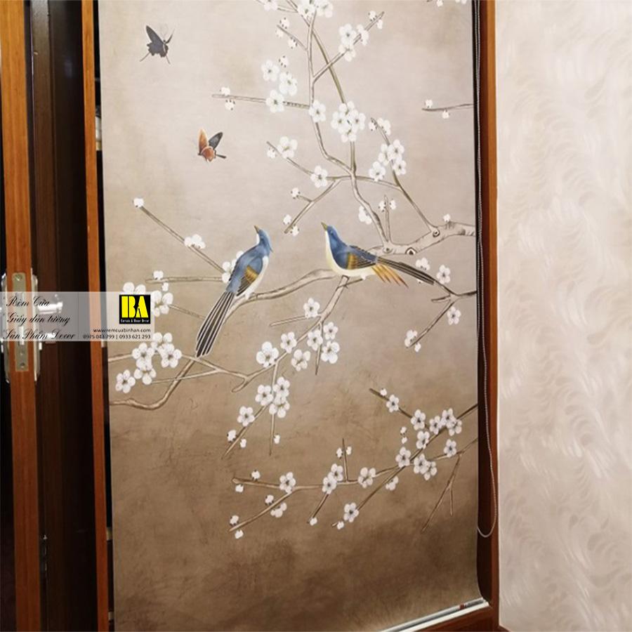 Rèm cuốn in tranh cổ điển | Rèm cuốn in tranh UV cao cấp Màn cuốn tranh 3D Bình An