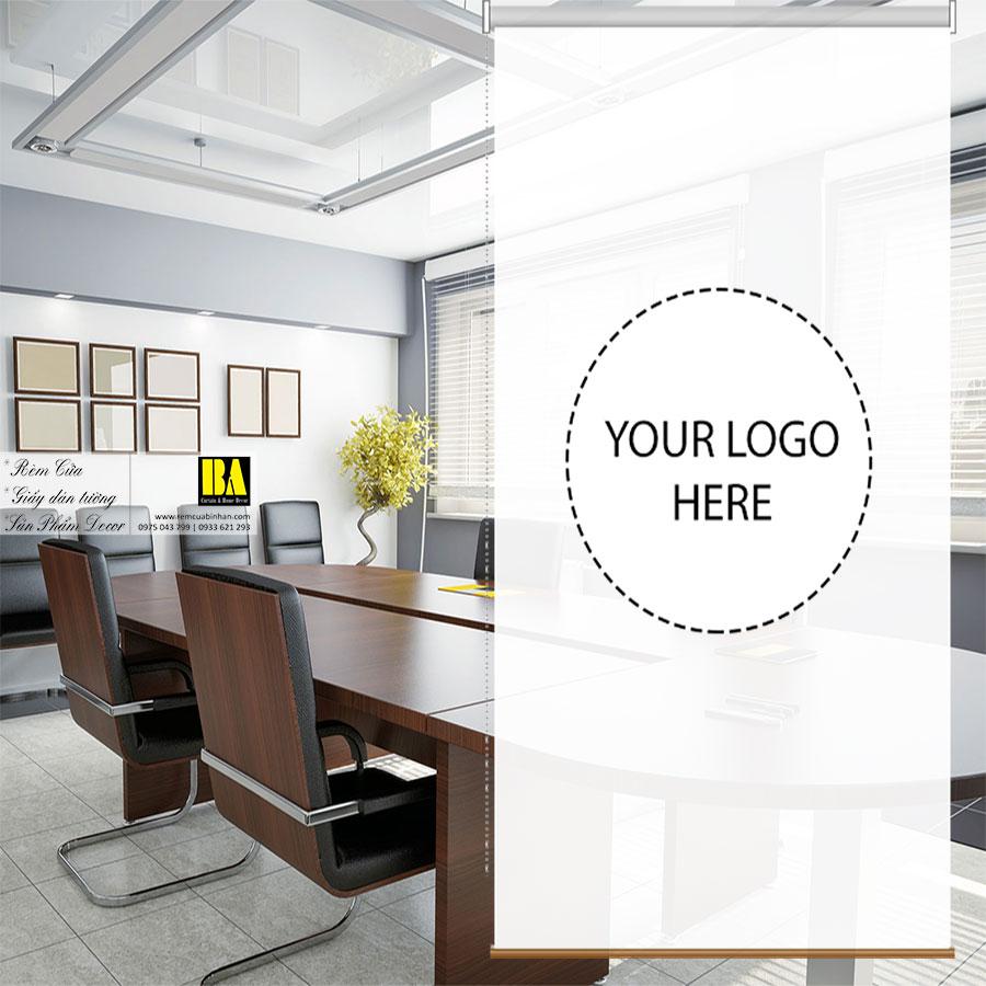 Rèm Cuốn Quảng Cáo In Logo Theo Yêu Cầu Màn Rèm Văn Phòng Bình An CLTAD