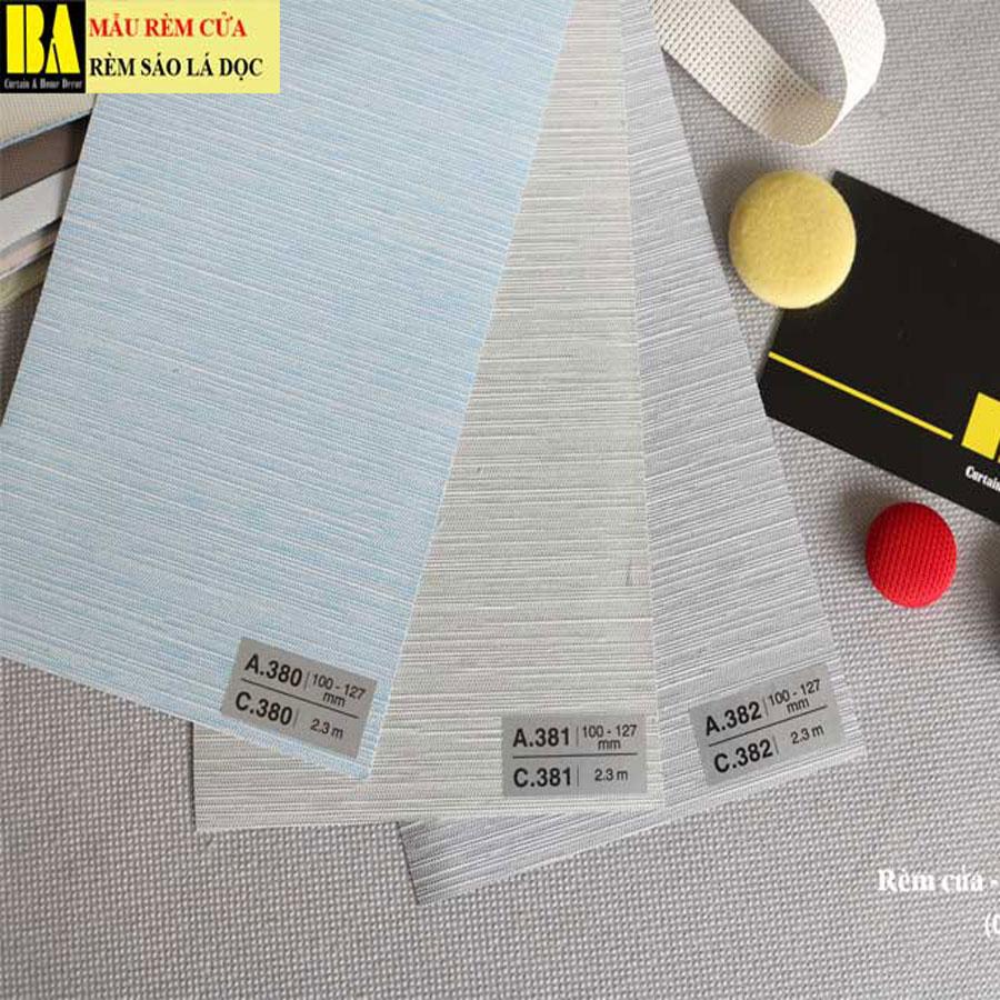 Rèm Dọc Văn Phòng Vải Bố Linen Màn Sáo Văn Phòng A382 Màu Xám