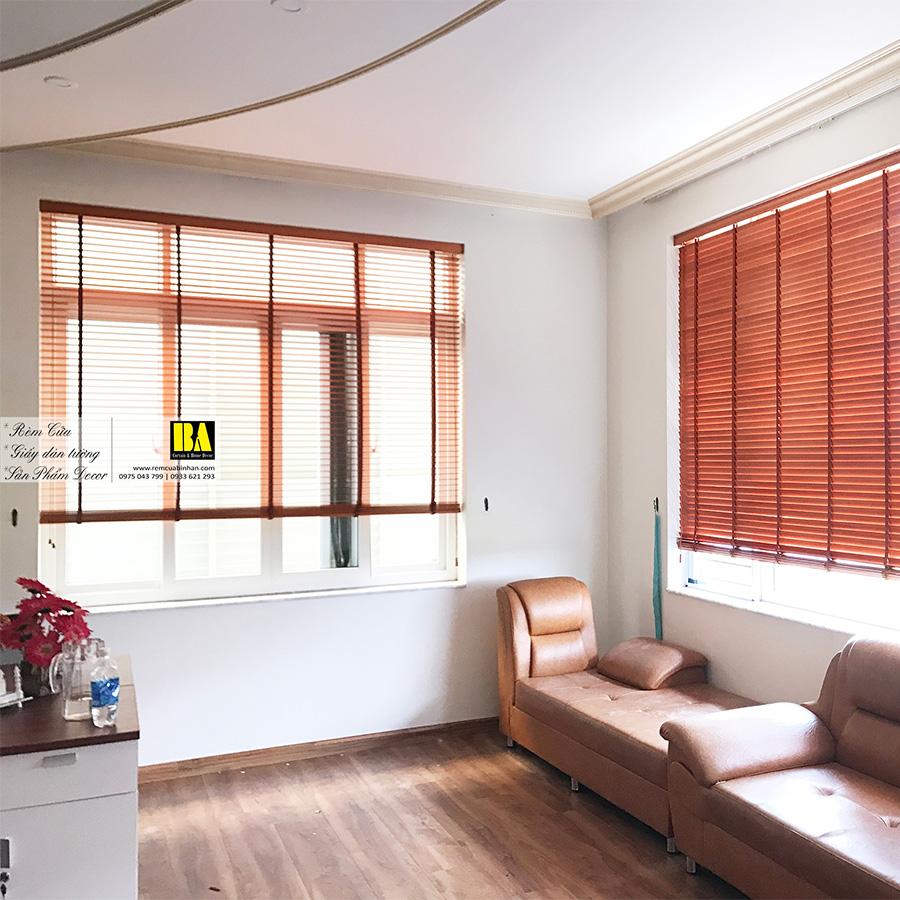 Rèm gỗ văn phòng   Màn lá xách văn phòng Rèm cửa chống nắng văn phòng bằng gỗ