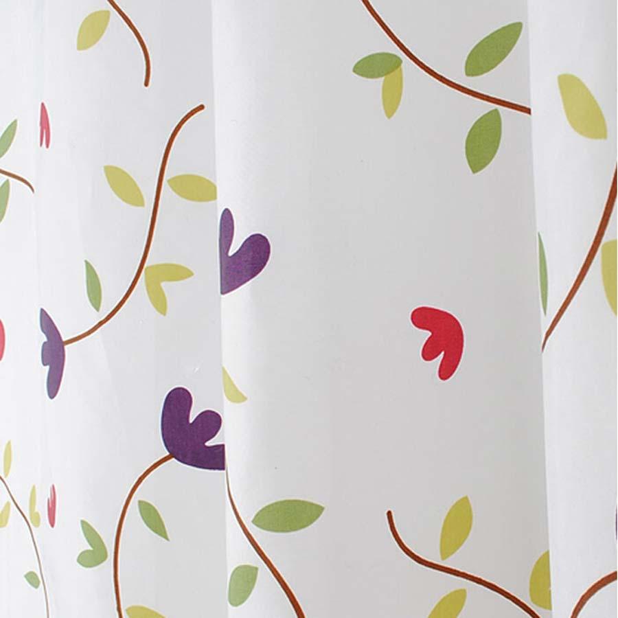 Rèm phòng tắm họa tiết cỏ ba lá Màn cửa chống thấm nước phòng tắm COBALA 2m x 2m