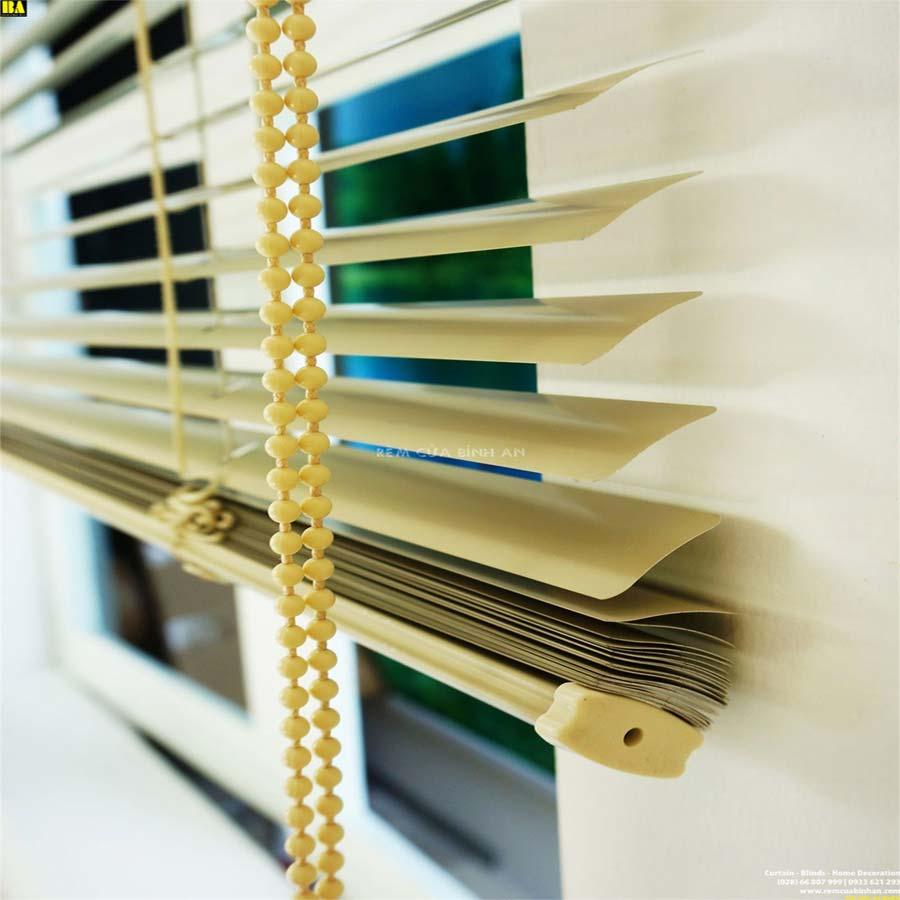 Rèm Sáo Lá Nhôm Màn Cửa Sổ Văn Phòng Màn Sáo Ngang Màu Vàng ST28