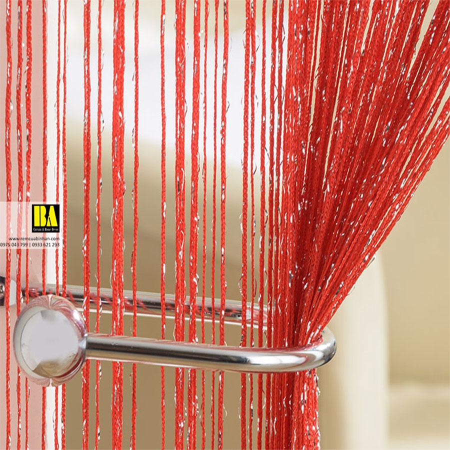 Rèm Sợi Kim Tuyến Màn Sợi Trang Trí Cao Cấp 3m x 3m Rèm Cửa Đẹp Màu Đỏ