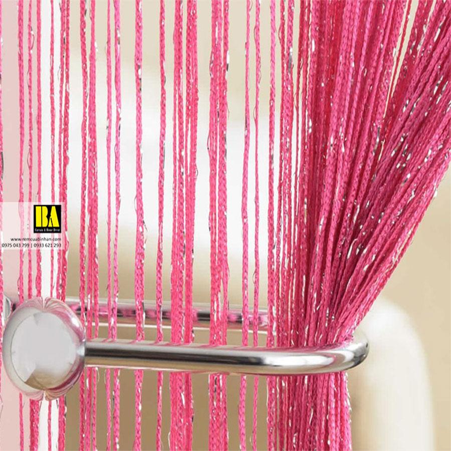 Rèm Sợi Kim Tuyến Màn Sợi Trang Trí Cao Cấp 3m x 3m Rèm Cửa Đẹp Màu Hồng