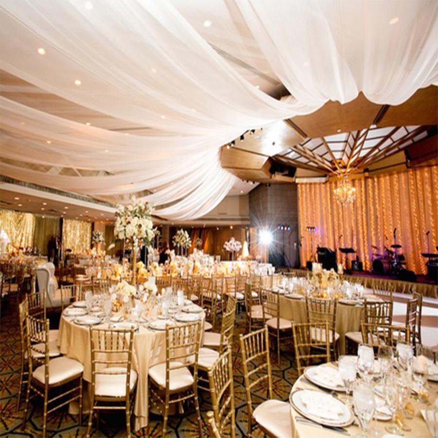 Rèm thả trần võng chùm trang trí tiệc cưới, nhà hàng & hội nghị | Màn thả trần cao cấp TR04