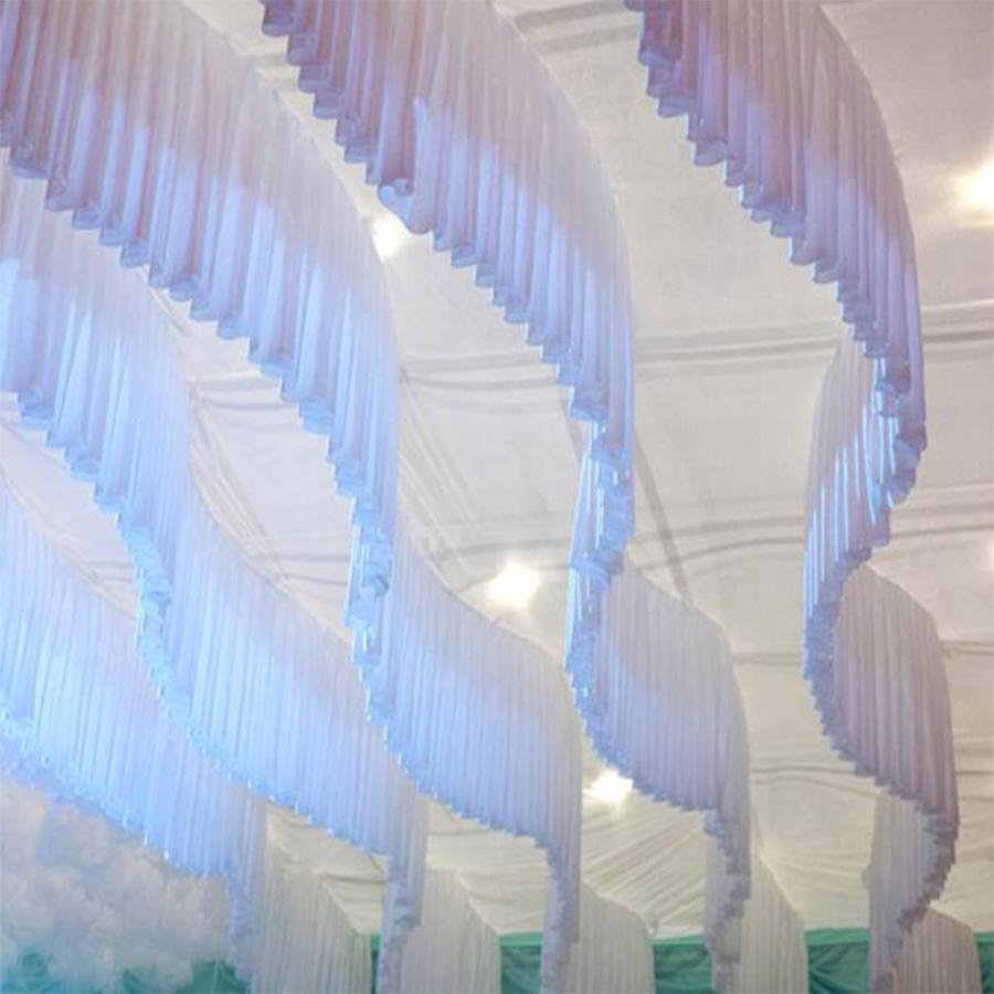 Rèm trang trí tiệc cưới nhà hàng cao cấp | Rèm thả trần trang trí đẹp TR01
