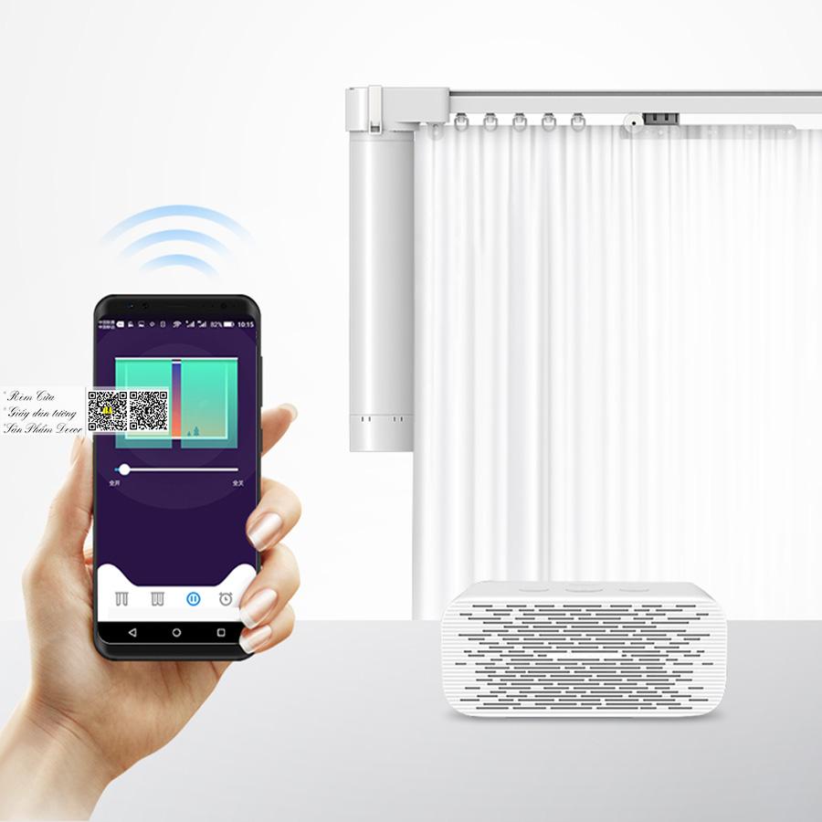 Rèm tự động Tích hợp điều khiển smartphone   Rèm vải tự động Bình An