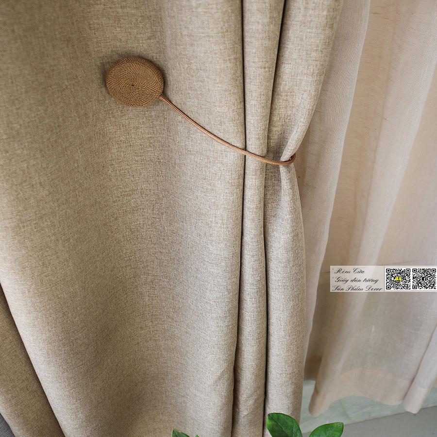 Rèm vải bố nhung linen mềm rũ mịn | Màn cửa trơn một màu hiện đại
