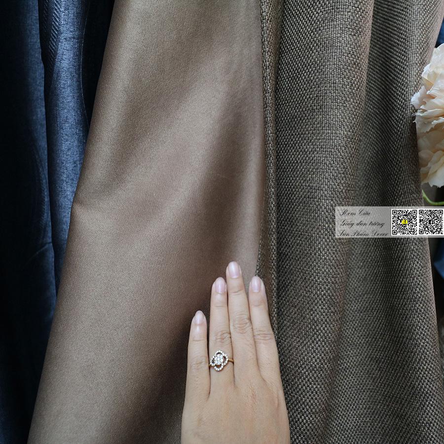 Rèm vải bố thô trơn một màu | Màn cửa đẹp trang trí phòng khách Rèm phòng khách hcm