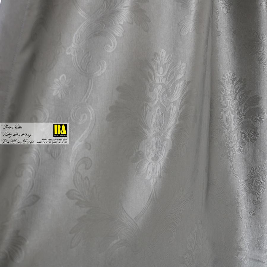 Rèm vải chống nắng gấm satin Màn cửa phòng khách đẹp Rèm cửa Bình An