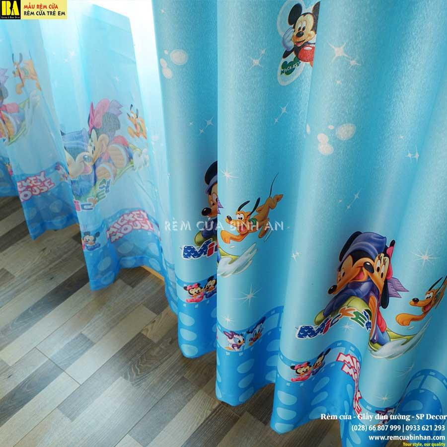 Rèm vải chuột Mickey Rèm cửa cho trẻ em Màn cửa đẹp cho bé MICKEY