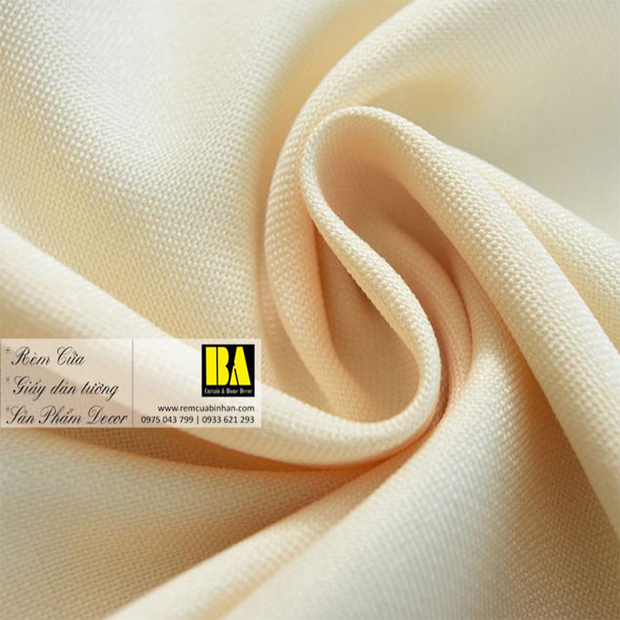 Rèm vải màu vàng kem | Màn cửa trơn một màu hiện đại