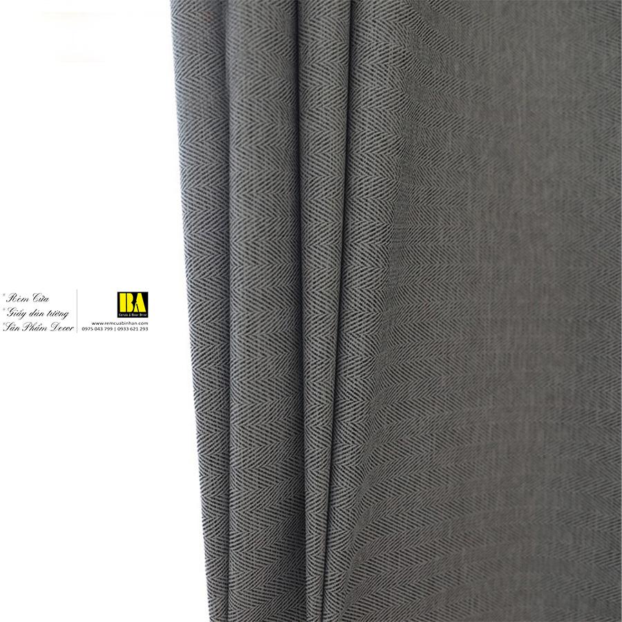 Rèm vải trơn hoa văn chìm zigzag phong cách hiện đại | Rèm vải chống nắng trơn một màu