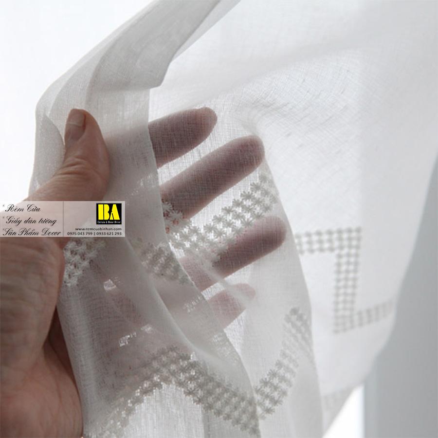 Rèm voan Hàn Quốc họa tiết Zigzag Màn cửa phong cách Nordic   Rèm cửa Bình An