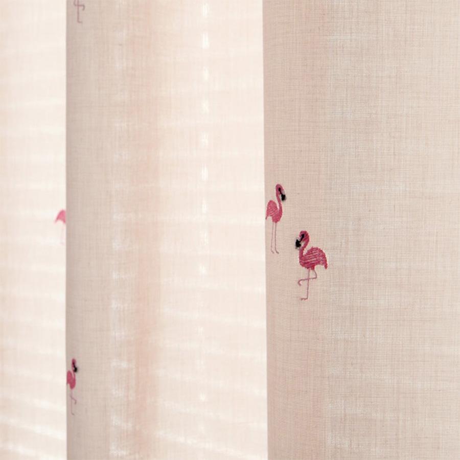 Rèm voan Hàn Quốc thêu họa tiết thiên nga phong cách Nordic | Màn cửa cao cấp Hàn Quốc