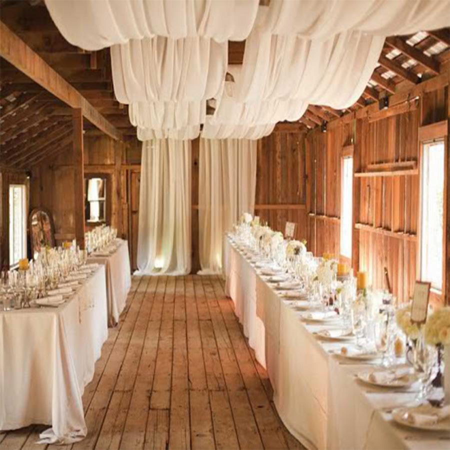 Rèm voan thả trần trang trí hội nghị, spa, tiệc cưới | Rèm thả trần trang trí cao cấp Bình An TR03