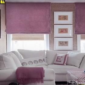 Màn roman cửa sổ đẹp Rèm cửa sổ HCM Vải bố Chống nắng 60-70% RO003