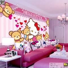 Tranh dán tường Hello Kitty | Tranh dán tường phòng trẻ em Tranh tường cho bé