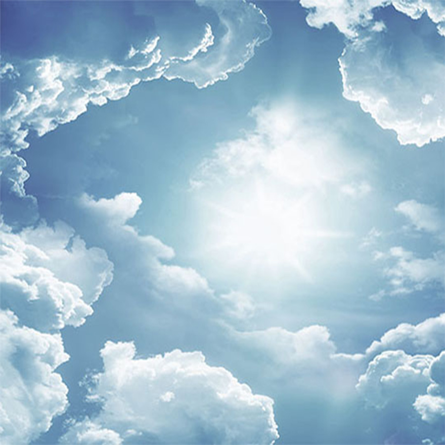 Tranh dán trần mây trời | Tranh dán trần cao cấp Bình An Tranh dán trần phòng khách