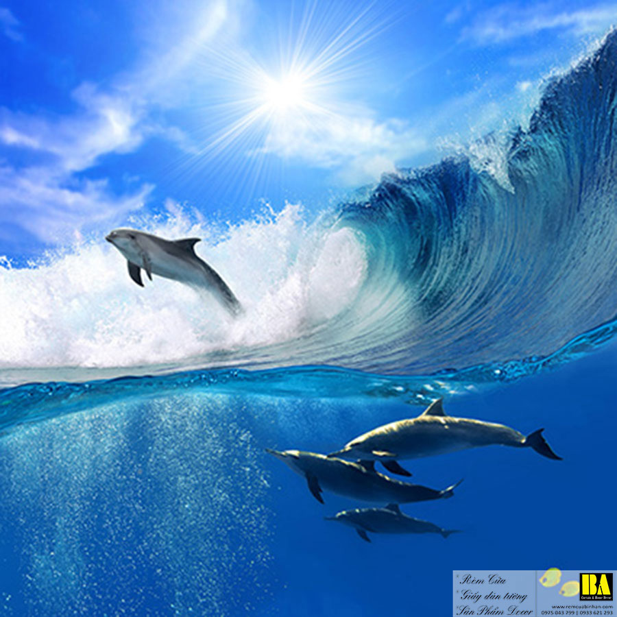 Tranh dán tường cảnh biển   Tranh dán tường in mực dầu hình phong cảnh Bình An