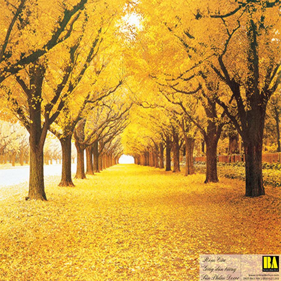 Tranh dán tường con đường bình yên   Tranh dán tường in mực dầu hình phong cảnh Bình An