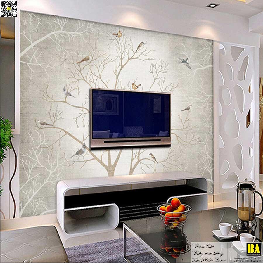 Tranh dán tường hình cây | Tranh dán tường phòng khách đẹp Tranh tường Bình An