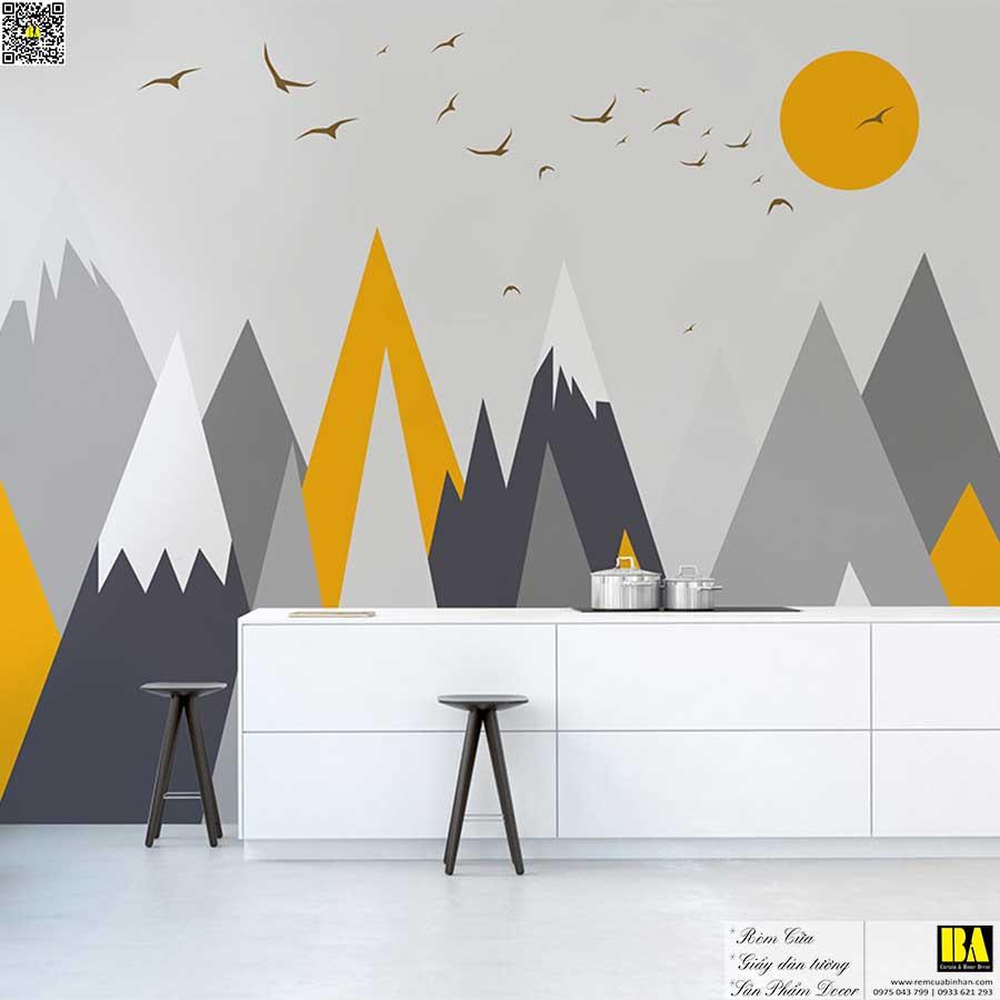 Tranh dán tường Phong cách Nordic | Tranh dán tường in UV cao cấp phòng bé