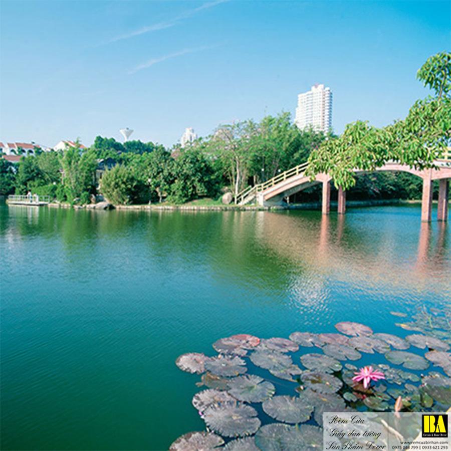 Tranh dán tường phong cảnh đẹp   Tranh dán tường in mực dầu Bình An