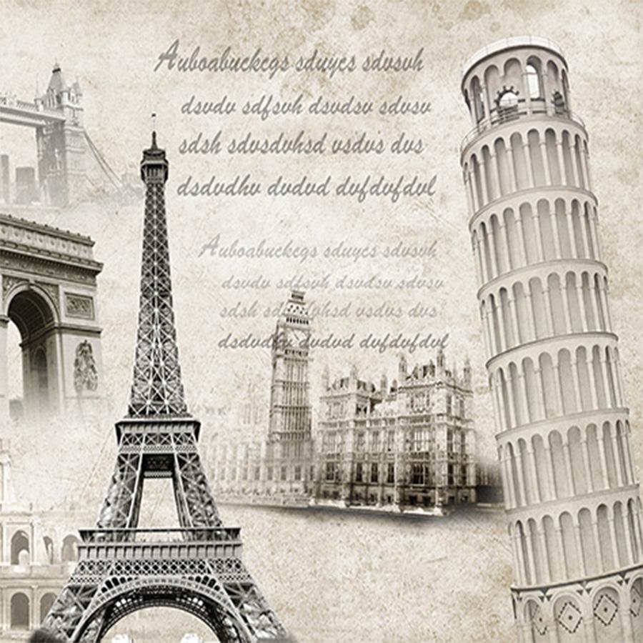 Tranh dán tường phong cảnh   Tranh dán tường in UV sắc nét Tranh tường Tháp Eiffel
