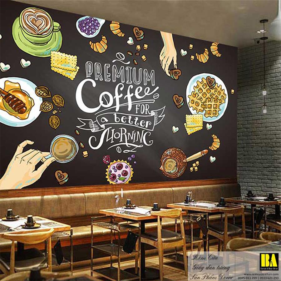 Tranh dán tường quán cà phê   Tranh dán tường trang trí đẹp TP HCM