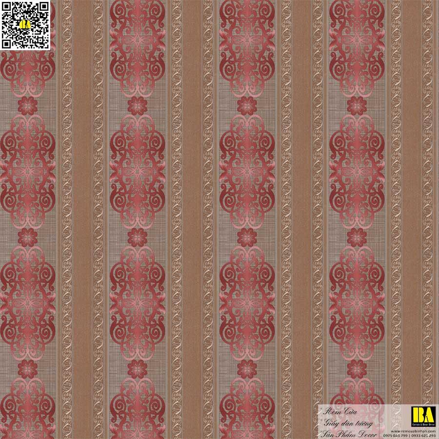 Vải dán tường cổ điển cao cấp | Vải dán tường sợi thủy tinh cho nhà ở, biệt thự, khách sạn